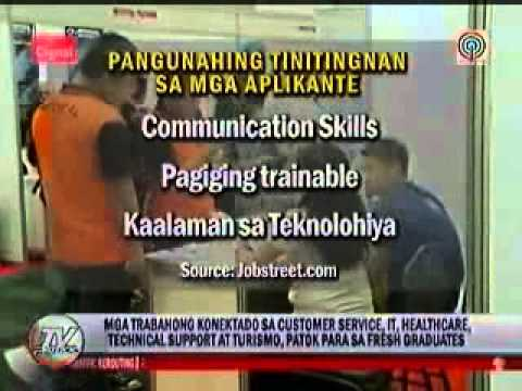 JobStreet.com Sites Top Jobs for Fresh Grads on TV Patrol