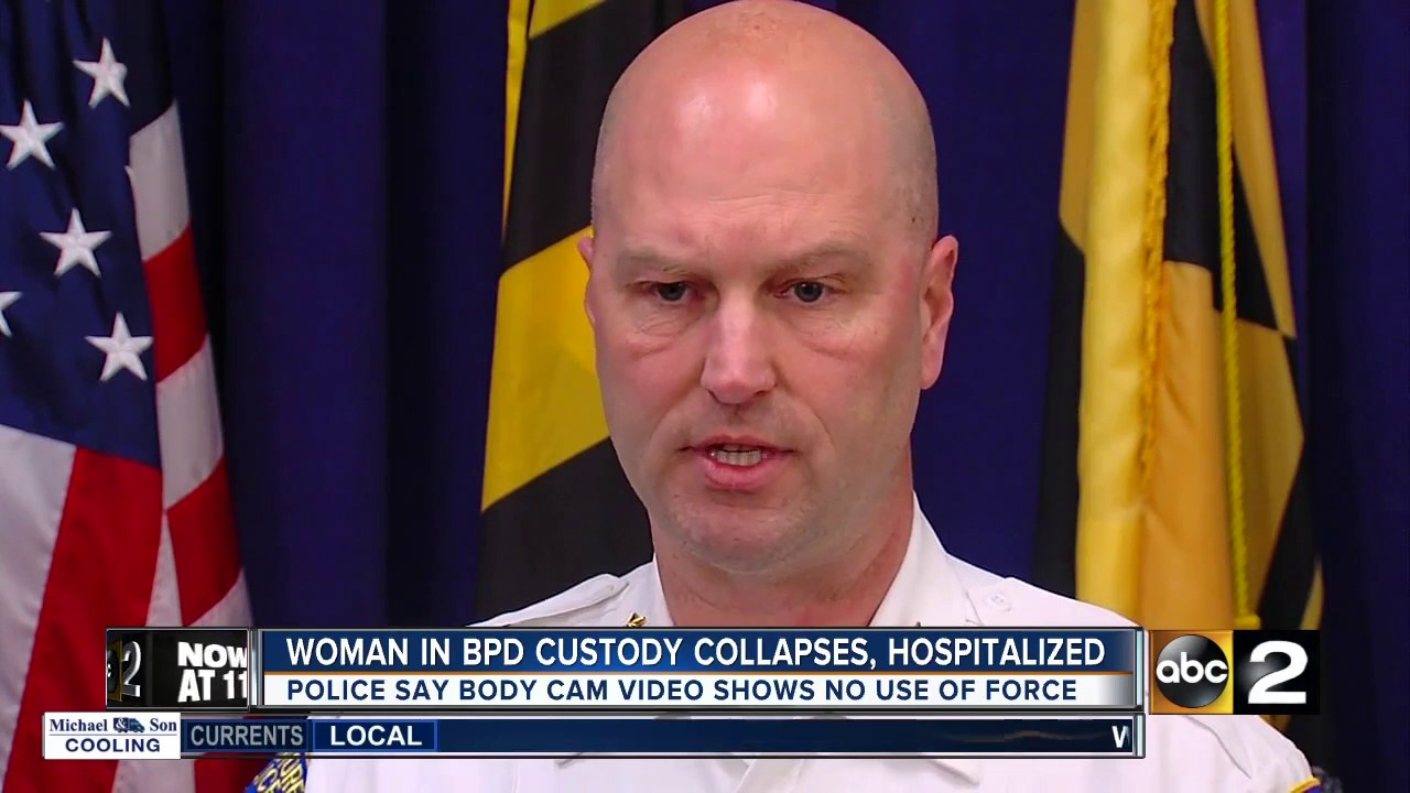 Woman in BPD custody collapses, hospitalized