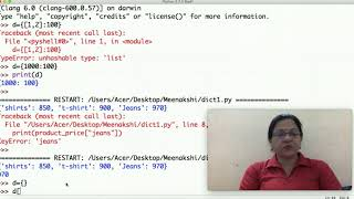 Class 11 IP(065) Dictionary in Python Part-2 by Meenakshi Mam