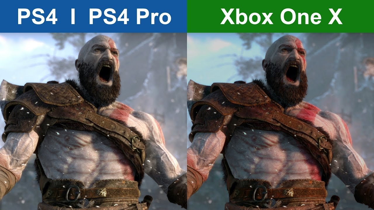 God of War - PS4 vs XBOX ONE X - Graphics Comparison - YouTube Xbox One X Vs Ps4 Graphics