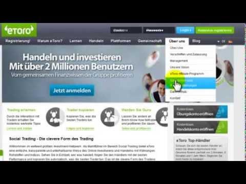 Automatisch Geld verdienen mit eToro CopyTrader   deutsche Anleitung !   YouTube
