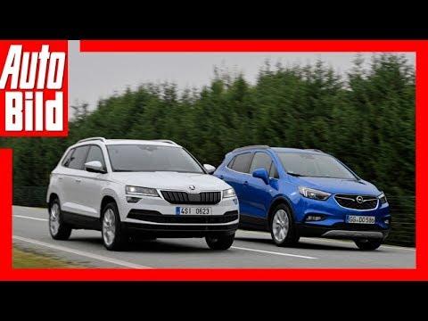 Skoda Karoq vs Opel Mokka X ( Goldenes Lenkrad 2017) Test/Review/Details