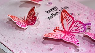Hero Arts | Happy Mother's Day (Butterfly Stamp & Cut)