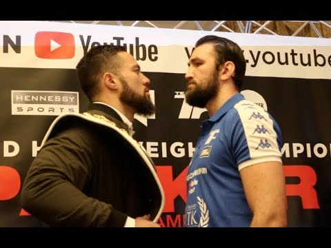 HEAVYWEIGHT WORLD TITLE! - JOSEPH PARKER v HUGHIE FURY - HEAD TO HEAD AT LONDON PRESS CONFERENCE
