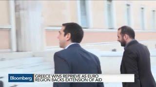 Euro Region Backs Extension of Greek Aid