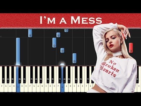 Bebe Rexha - I'm a Mess | Piano tutorial