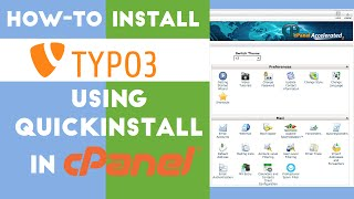 How-to Install Typo3 Using QuickInstall in cPanel