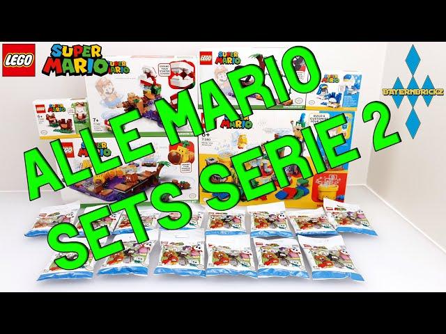 Lego Super Mario - Review alle 6 neuen Sets Frühling 2021 + 10 Polybag Figuren abwiegen