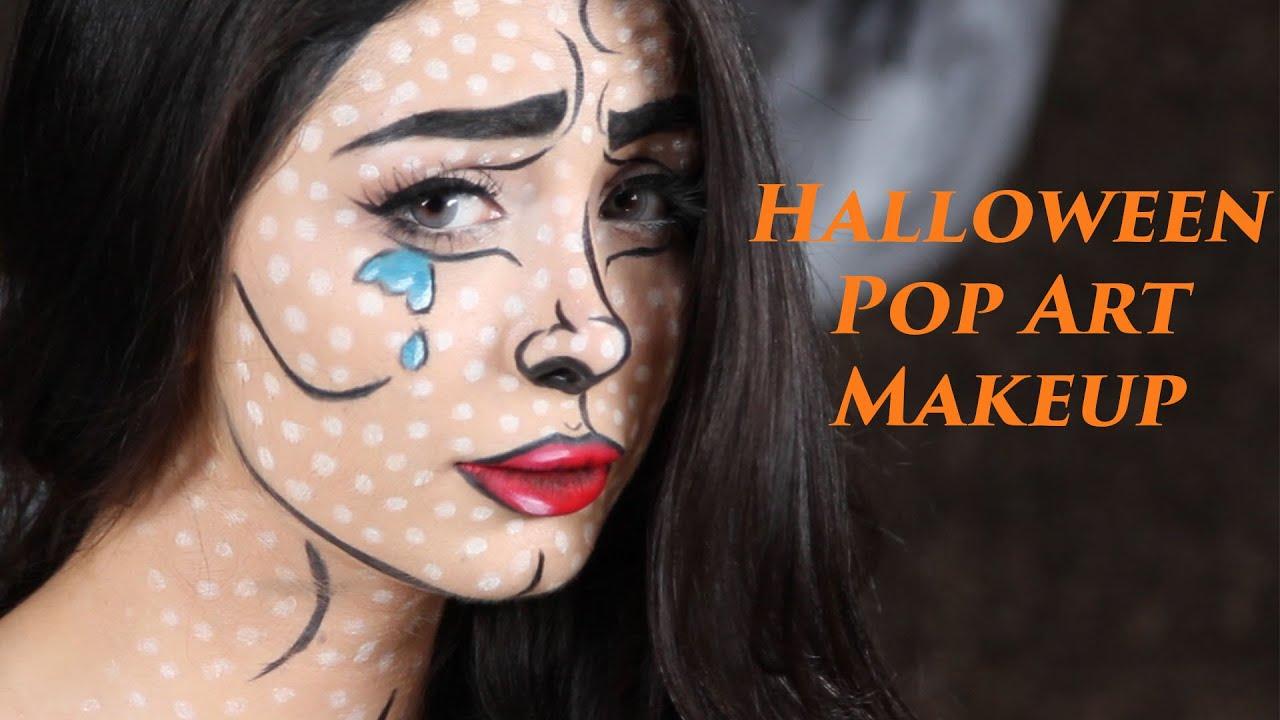Pop Art Comic Girl Wallpaper Halloween Pop Art Makeup مكياج هالوين English Subtitles