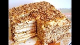 Торт из печенья. Торт на скорую руку. Торт без выпечки