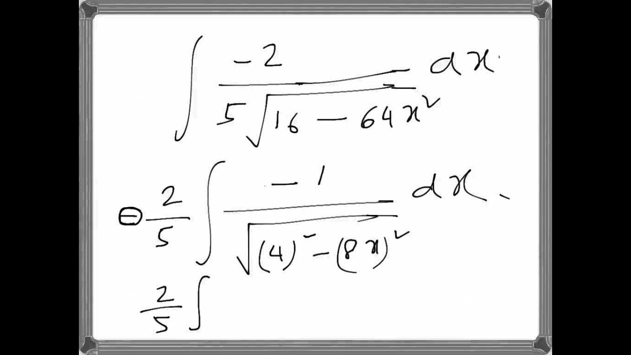 Calculus Integration Involving Inverse Trig Function Example