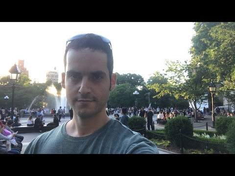 🔴Live Chat: 🌅New York City Sunset at  Washington Square Park ! Live Music + Performers