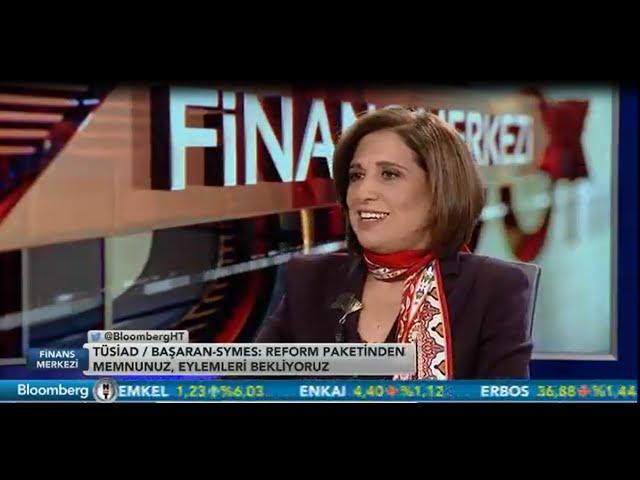TÜSİAD Başkanı Cansen Başaran-Symes / Bloomberg HT Finans Masası Programı 22.12.2015