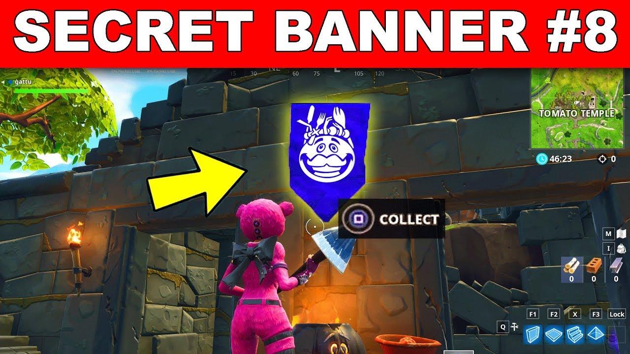 Secret Banner Week 8 Season 5 Location Fortnite Battle Royale