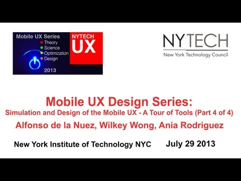 Mobile UX Design Series: Simulation and Design of the Mobile UX - A Tour of Tools (Part 4 of 4)