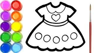 Cara Menggambar Dan Mewarnai Baju Dress Untuk Anak Anak Youtube
