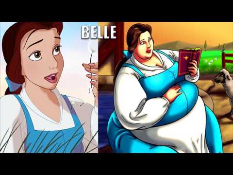If Disney Princesses Were Overweight ★ Fat Disney Princesses
