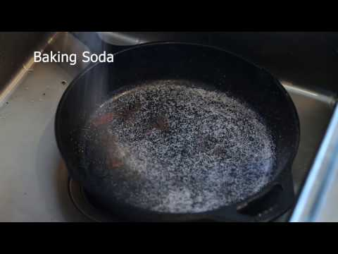 How to clean a burnt Cast Iron Pan