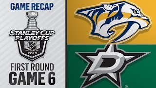 Stars win Game 6 in OT to advance