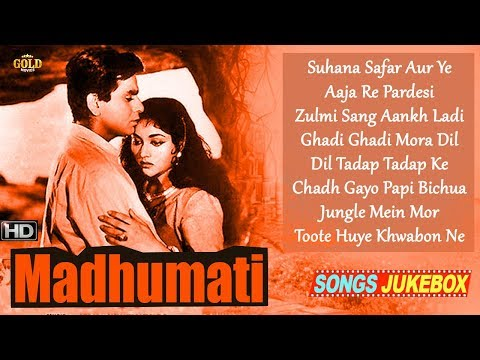 Dilip Kumar, Vyjayanthimala, - Super Hit Vintage Video Songs Jukebox - Madhumati  HD