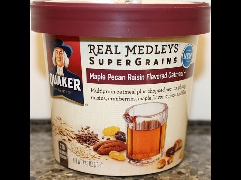 Quaker Real Medleys Supergrains: Maple Pecan Raisin Flavored Oatmeal Review