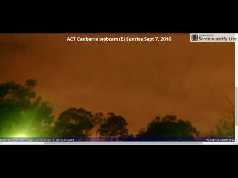 ''PLANET 9-X''  ACT Canberra webcam (E) sunrises Sept 7, 2016