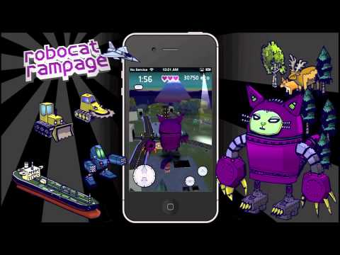 Robocat Rampage: Official iPhone Game Promo Video