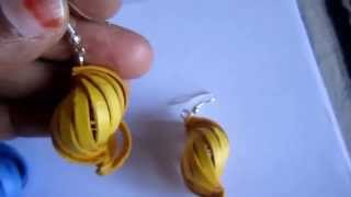 Free Form Quilling - Paper Shell Earrings (Not Tutorial)