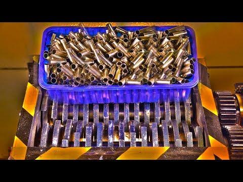 Experiment Shredding Giant Pile Of Bullet Shells | PressTube