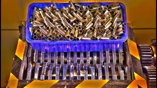Experiment Shredding Giant Pile Of Bullet Shells | PressTube