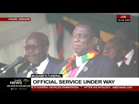 Mugabe's funeral   Robert Mugabe receives 21 gun salute
