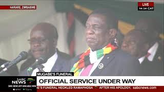 Mugabe's funeral | Robert Mugabe receives 21 gun salute