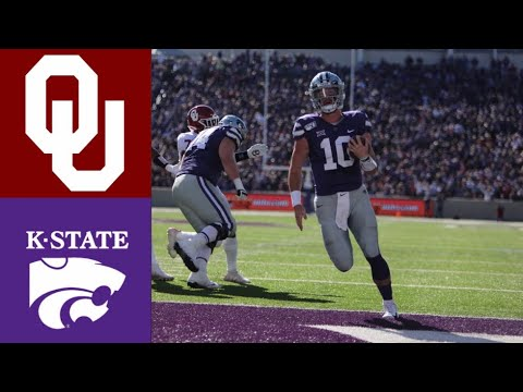 #5 Oklahoma vs Kansas State Highlights | NCAAF Week 9 | Coll