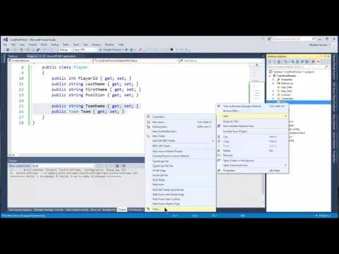 ASP.NET MVC 5 Code First Development with Entity Framework in Visual Studio