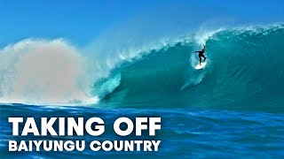 Surfing Huge Barrels In Remote Western Australia's Baiyungu Country   Taking Off