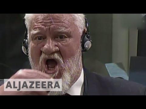 Bosnian Croat general 'dead' after drinking poison in court