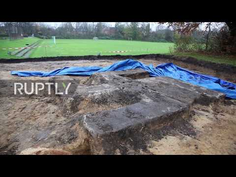 Germany: Enormous swastika unearthed during construction work in Hamburg