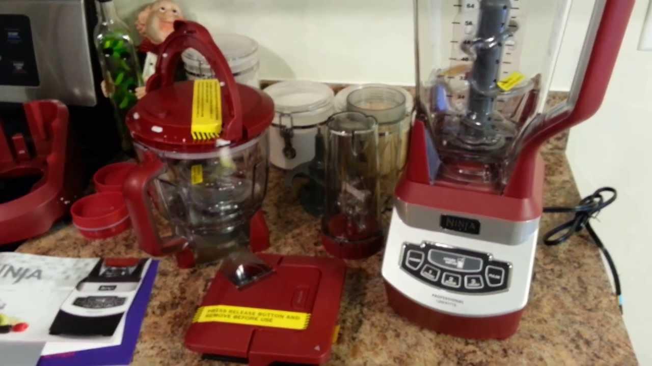 cinnamon red ninja 1200 watt mega kitchen system unboxing - youtube