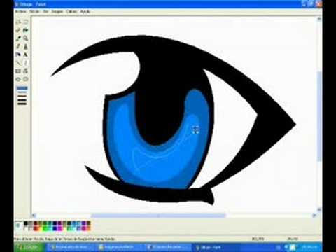 How to draw manga eyes in ms paint and blink animation ...