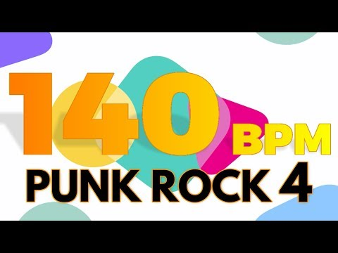 140 BPM - Punk Rock 4 - 4/4 Drum Track - Metronome - Drum Beat