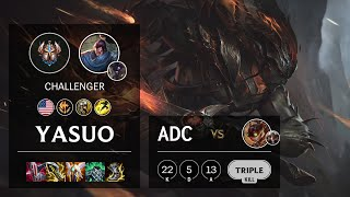 Yasuo ADC vs Ziggs - NA Challenger Patch 11.12