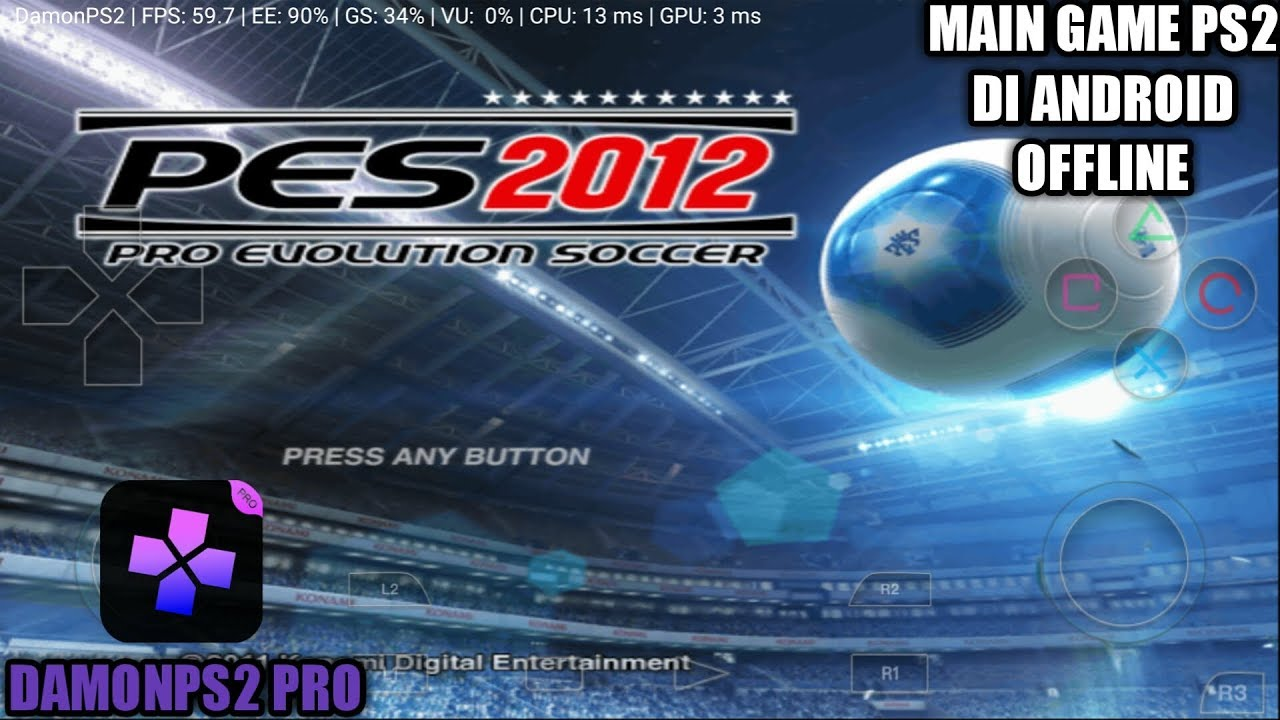Cara Bermain Game Pes 2012 Ps2 Di Android Damonps2 Pro Emulator Youtube