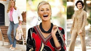 OUTFITS de moda para mujeres de 40, 50, 60 años o más | Street Style maduras | cómo vestir | over 40