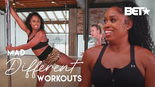 Fitness Guru Capri Curves Takes On Pole Dancing As Her Next Workout Routine | Mad Different Workouts