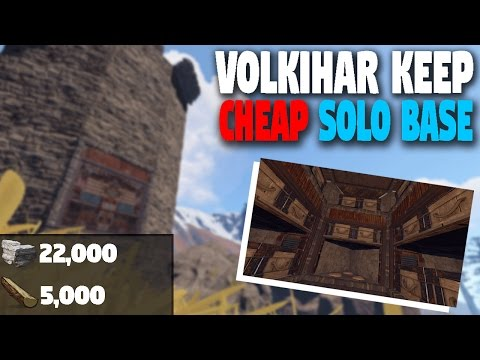 Rust Base Building | Small Cheap Solo Base (High Population Vanilla)