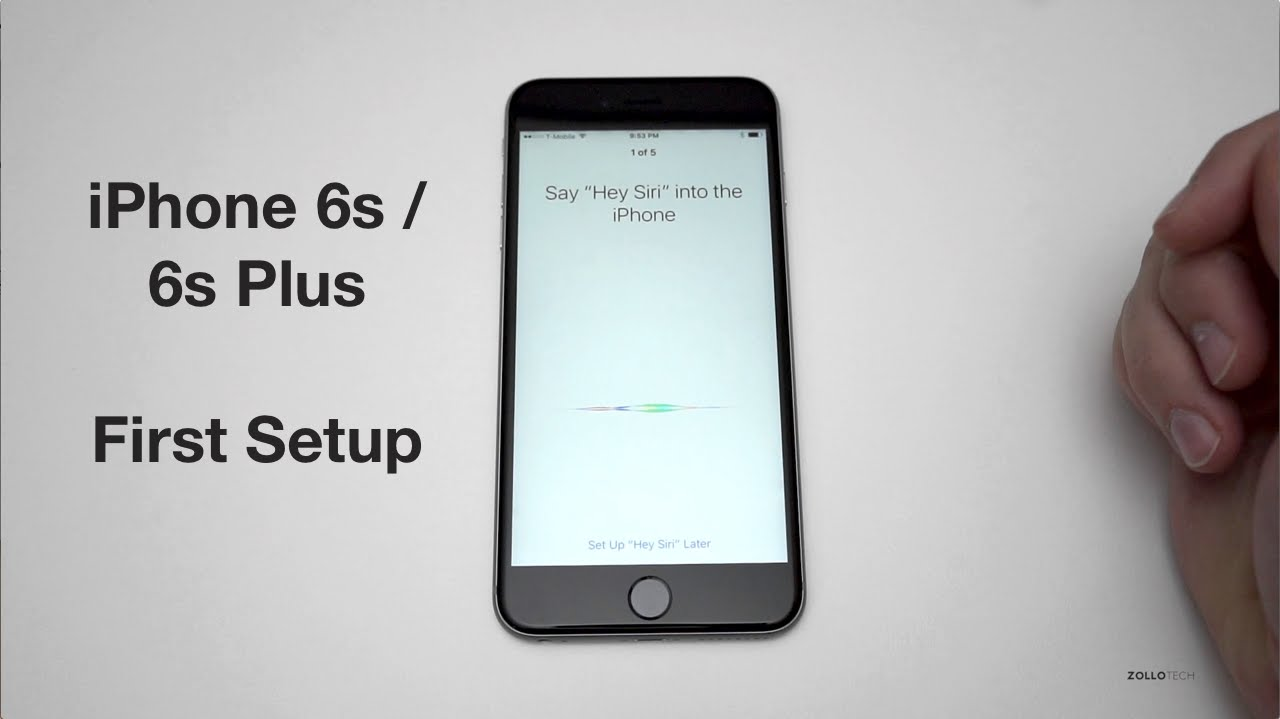 How to set up new iphone 6s