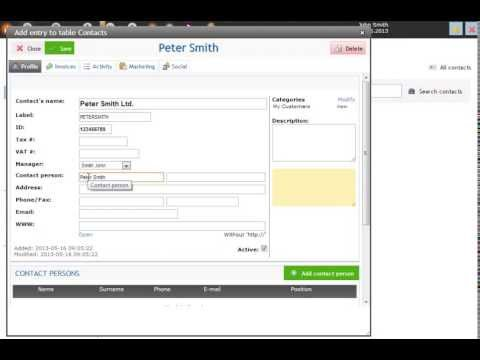 Working with contacts - basic usage