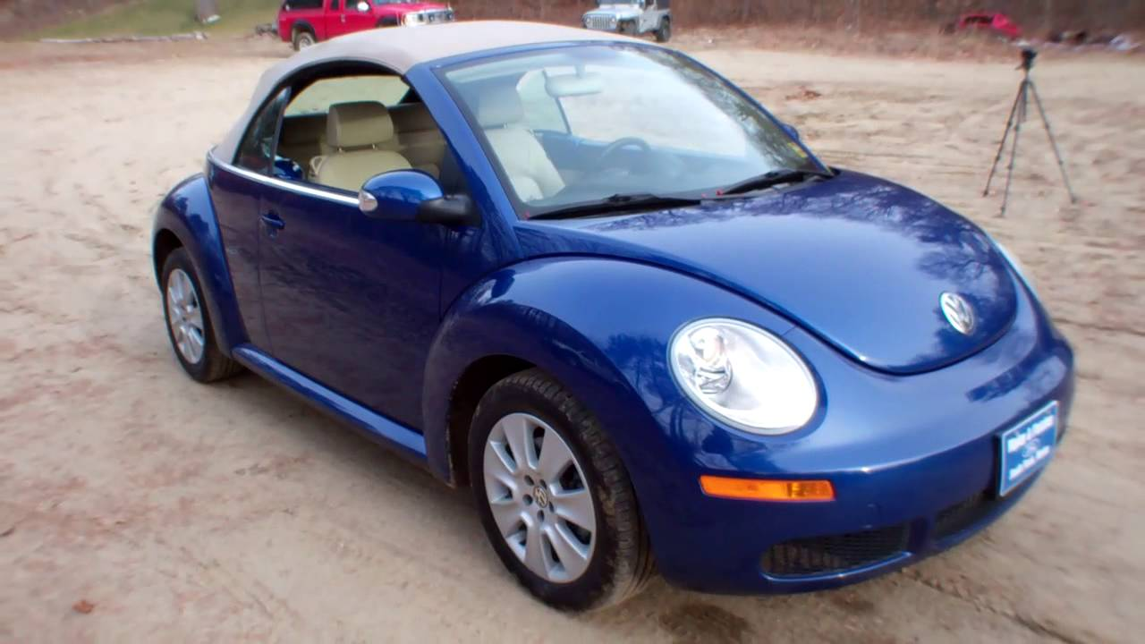 best price 2008 vw beetle convertible for sale near portland maine youtube. Black Bedroom Furniture Sets. Home Design Ideas