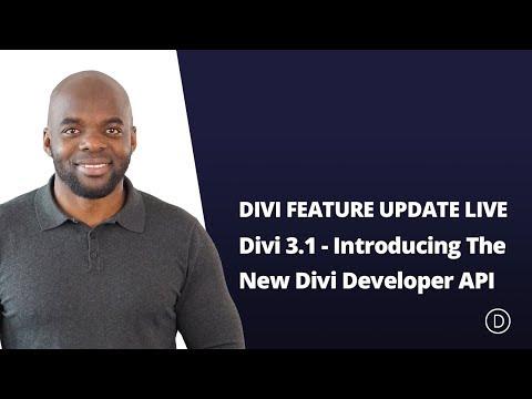 Divi Feature Update - Introducing The New Divi Developer API
