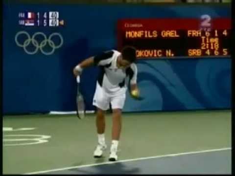 Djokovic v  Monfils Olympic Games Quarter Finals